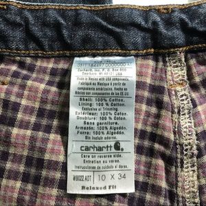 Carhartt Jeans - Carhartt Flannel Jeans 10x34 Relaxed Fit Straight